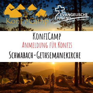 Anmeldung KonfiCamp@home - Gethsemane