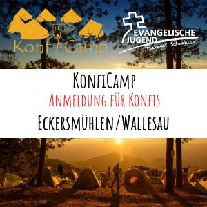 Anmeldung KonfiCamp@home - Eckersmühlen/Wallesau